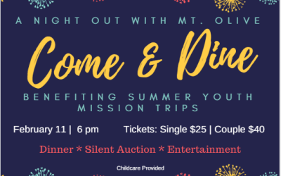 Summer Youth Mission Benefit Dinner