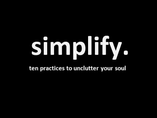 New Sermon Series – simplify.