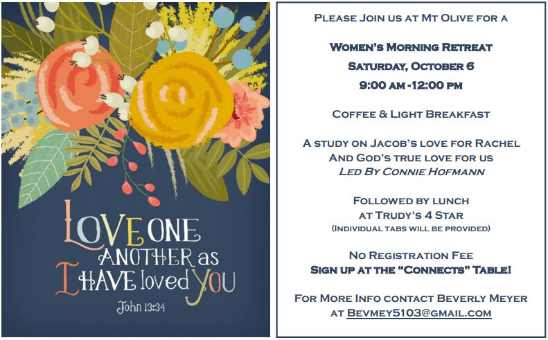 Women's Morning Retreat Fall 2018