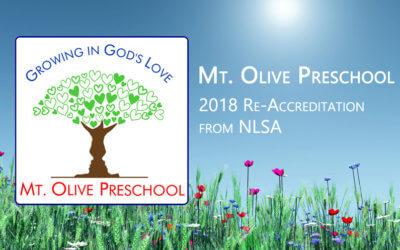 Mt. Olive Preschool – Re-Accreditation through NLSA
