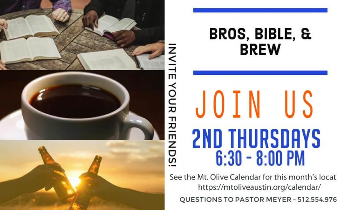 Bros, Bible, & Brew – Online!