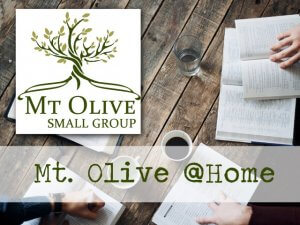 Small Group - Mt. Olive @Home