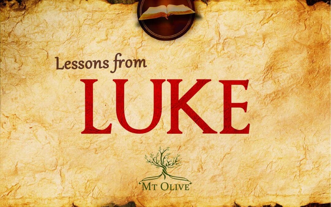 New Sermon Series – Lessons from Luke