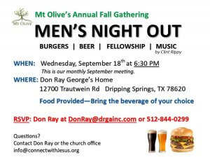 Mt. Olive Men's Night Out Fall 2019
