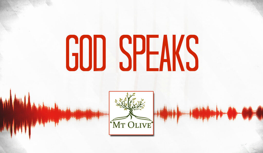 New Sermon Series – God Speaks