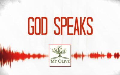 New Sermon Series – God Speaks