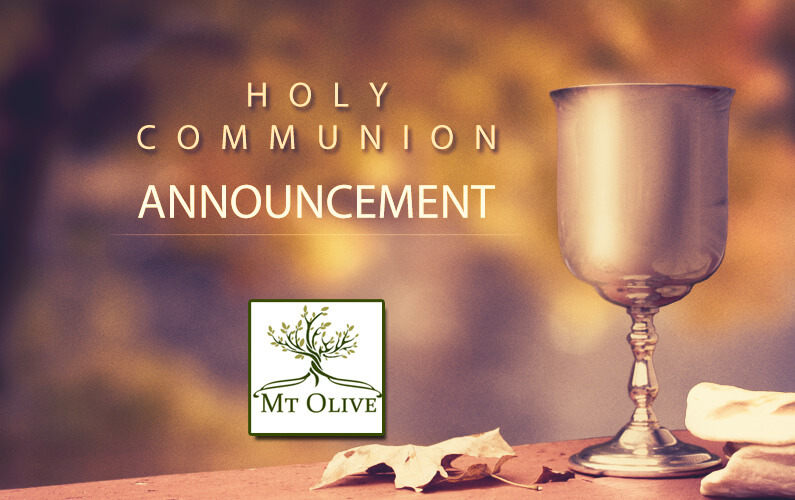 Holy Communion Announcement
