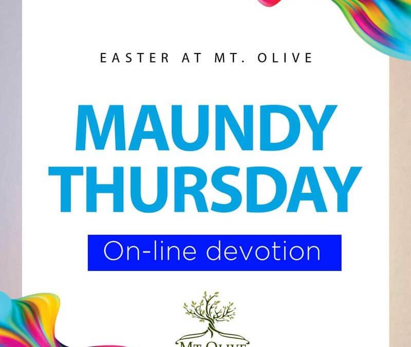 Maundy Thursday 2020