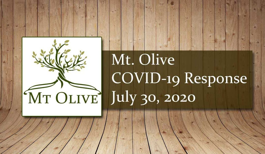Mt. Olive COVID-19 Response Guidelines