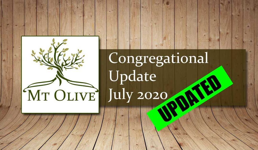 Congregational Update – July 2020