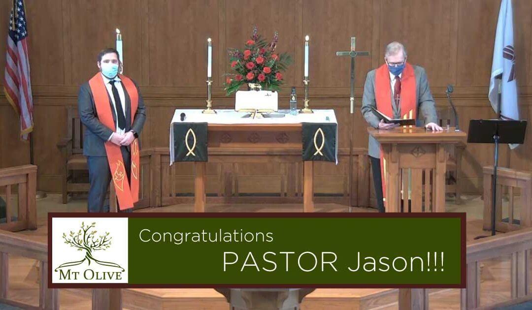 Congratulations Pastor Jason!